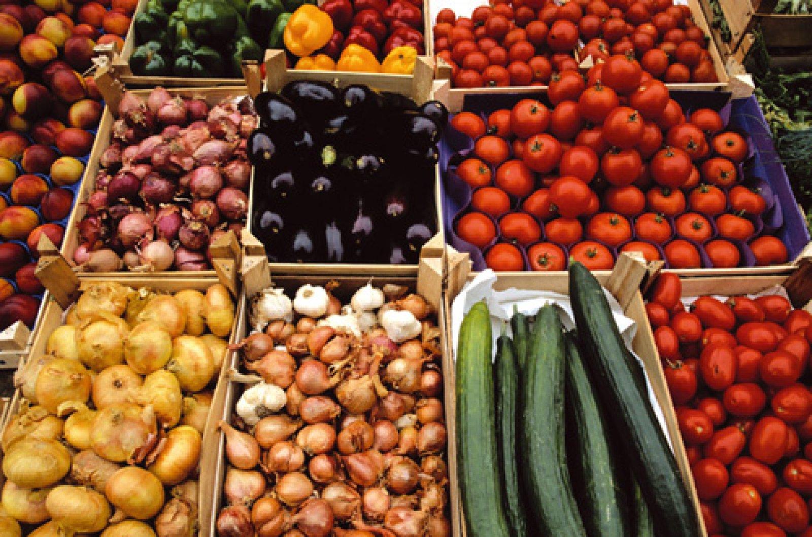 Aliments mercat. Fruita i verdura