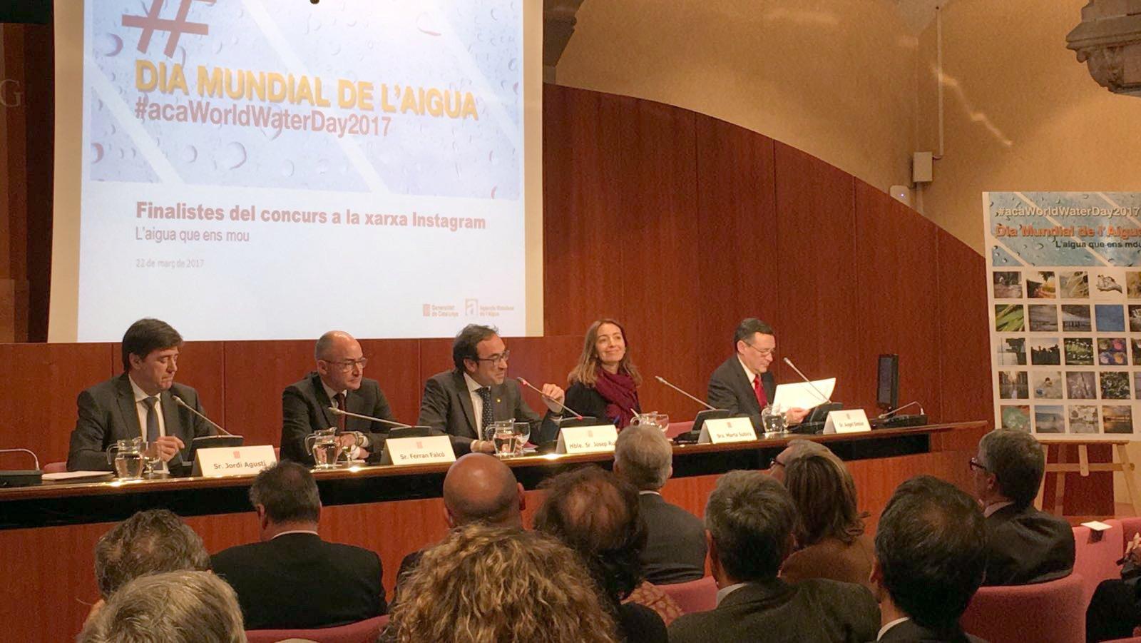 El conseller Rull presidint l'acte del Dia Mundial de l'Aigua