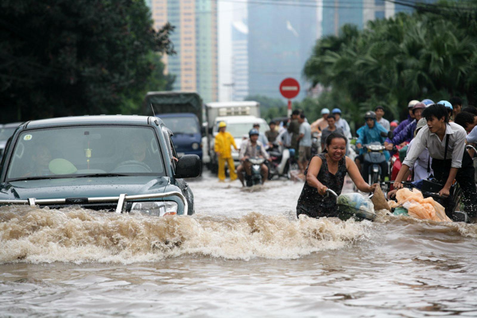 Inundacions a Hanoi (Vietnam) l'any 2008.