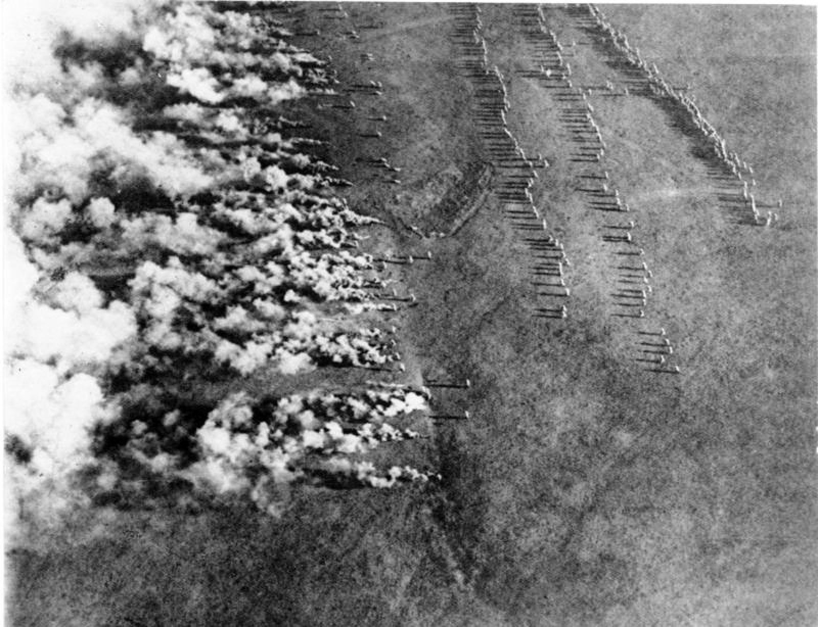 L'exèrcit alemany fent servir armes químiques durant la Primera Guerra Mundial
