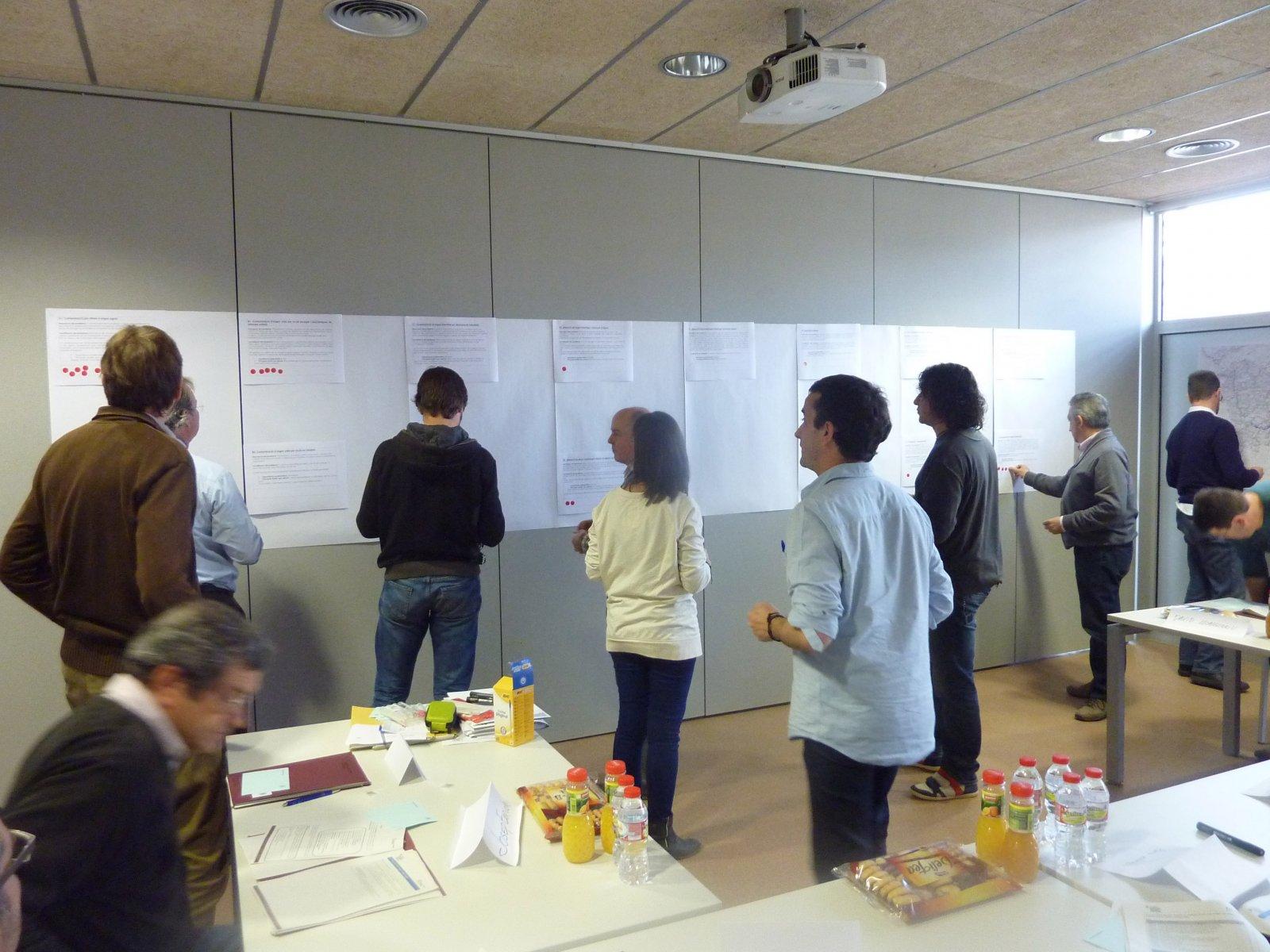 Una de les sessions de participació a Girona, dins l'actual cicle de planificació.