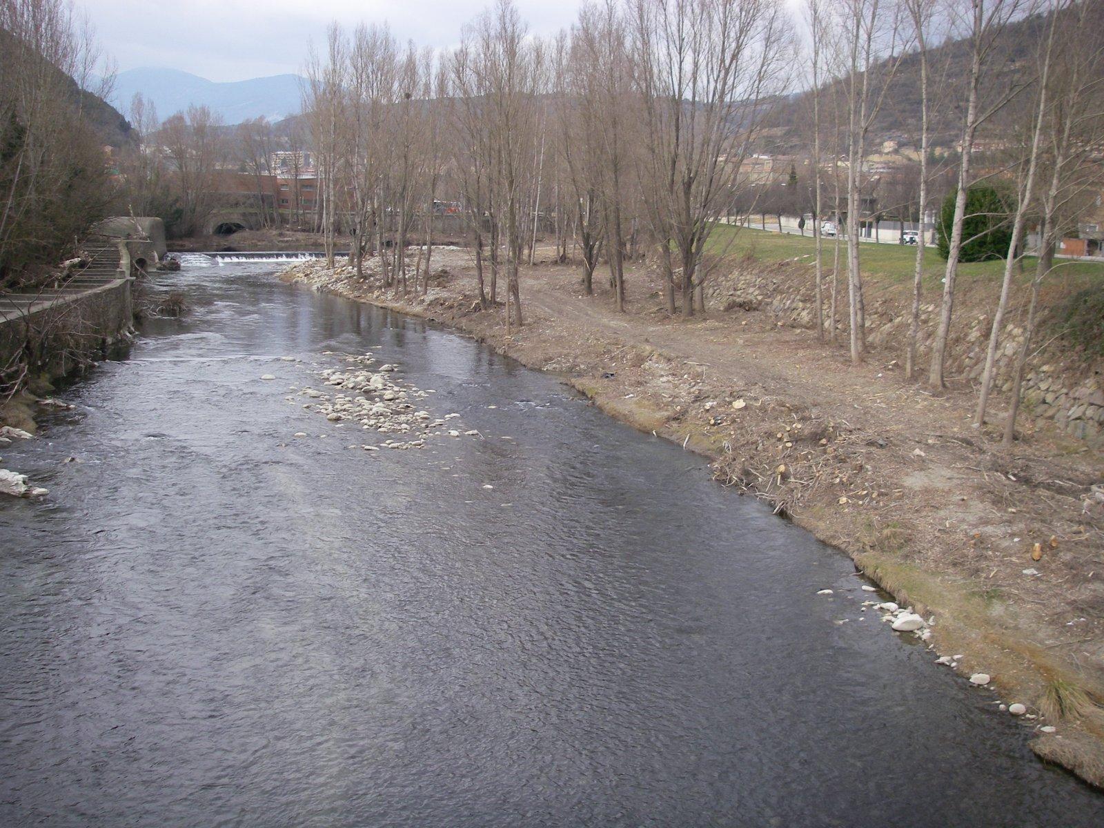 Obres finalitzades al riu Ter, entre Ripoll i Campdevànol