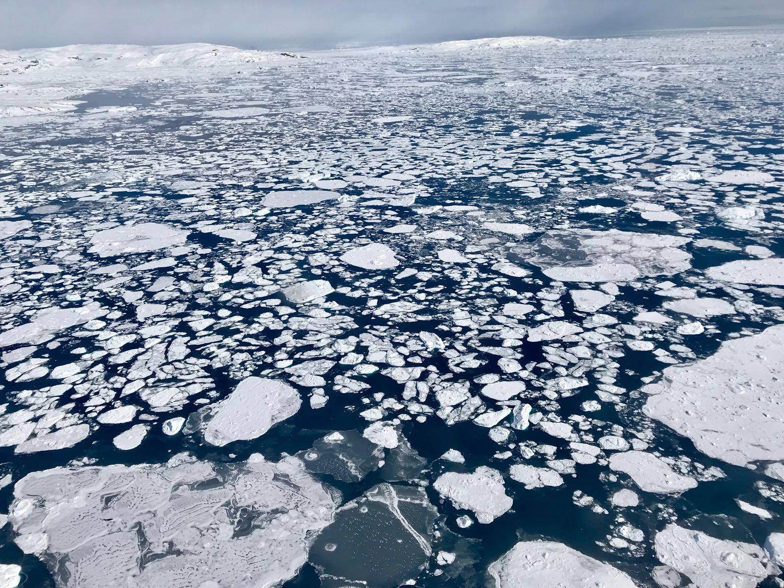 Formació de gel a l'oceà Àrtic
