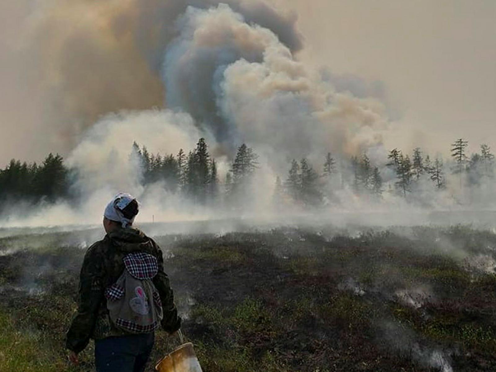 El foc està cremant enormes extensions de tundra siberiana