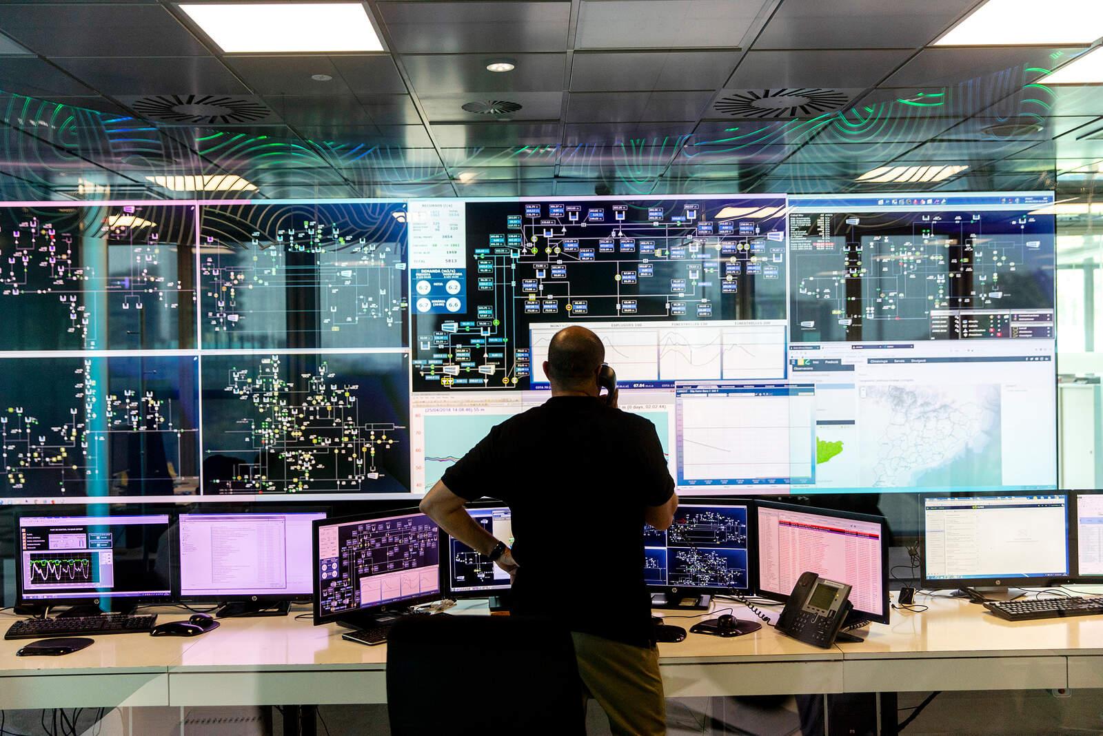 El Centre de Control Operatiu d'Aigües de Barcelona