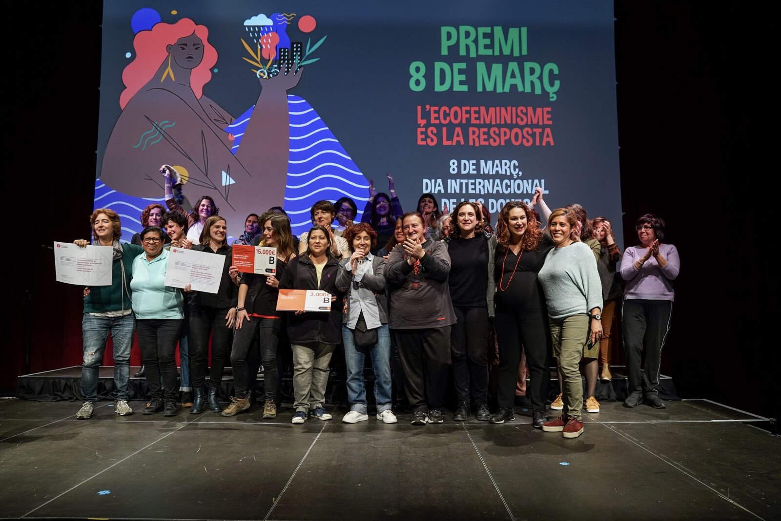 L'entrega del Premi 8 de Març
