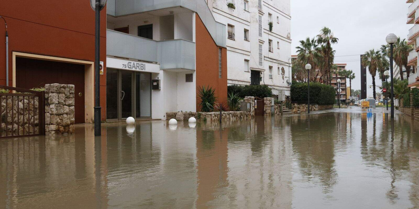 Salou inundat per un temporal aquest mes de gener