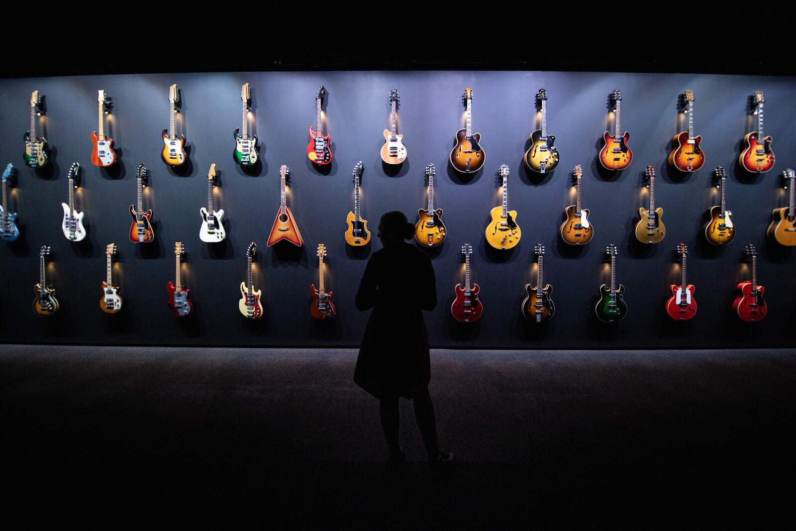Exposició de guitarres (fotografia d'arxiu)