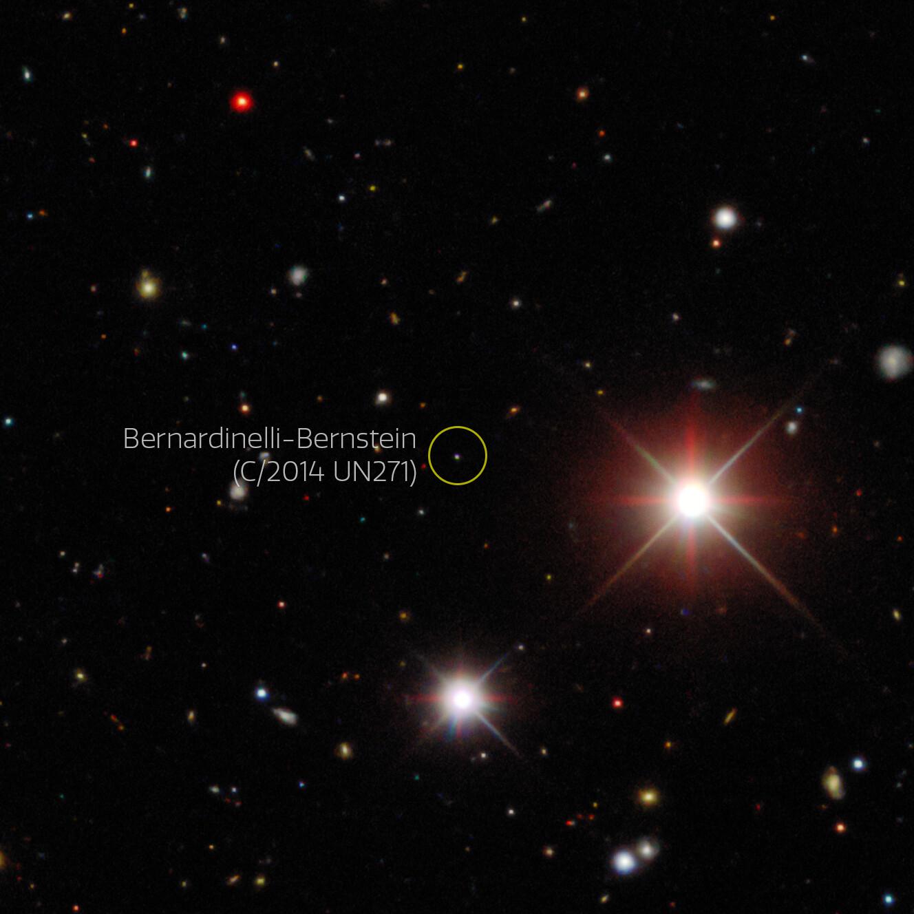 La imatge del descobriment del cometa   NoirLab