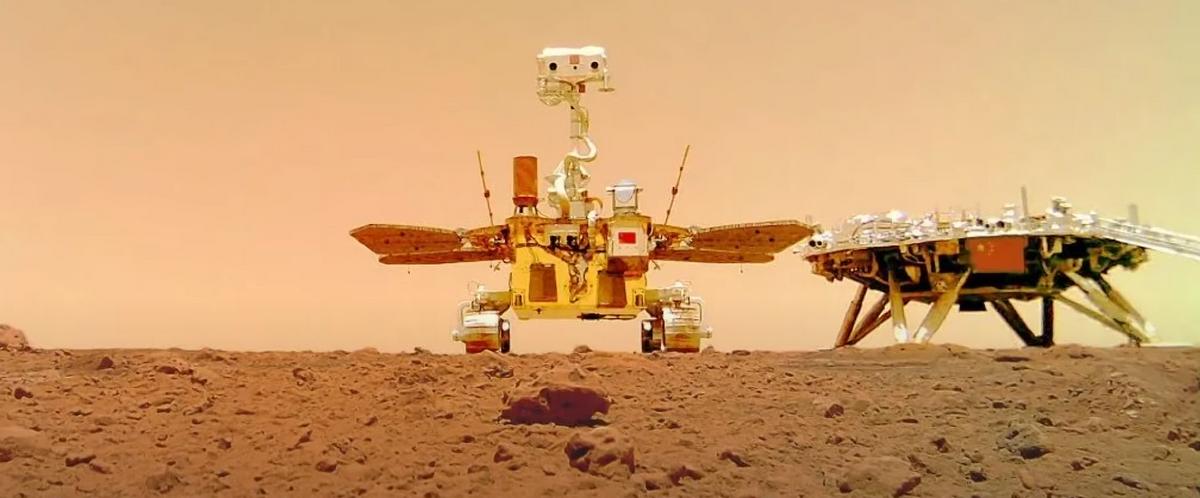 El vehicle d'exploració Zhurong a la superfície de Mart | CNSA