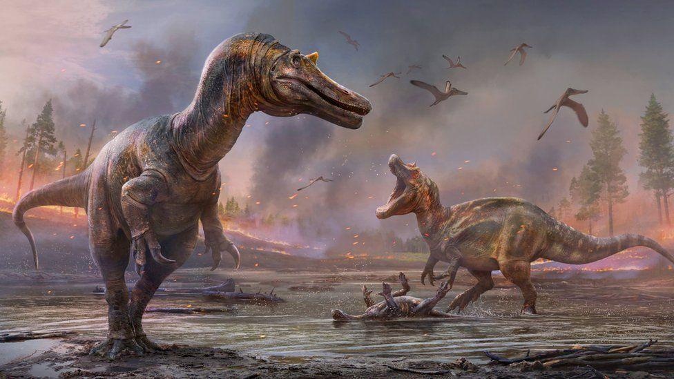 Reproducció artística dels dos nous dinosaures | Anthony Hutchings