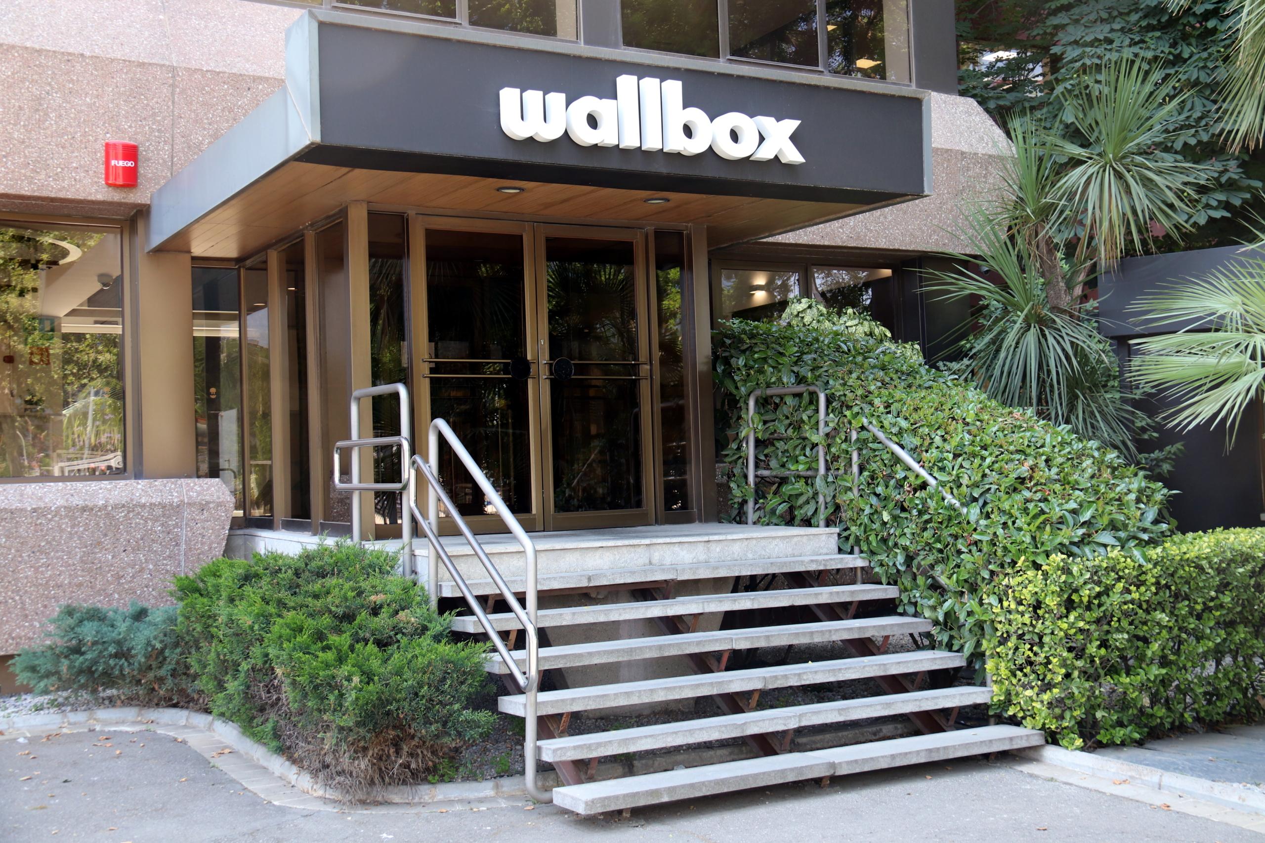 L'entrada de l'edifici de Wallbox, a Barcelona   ACN